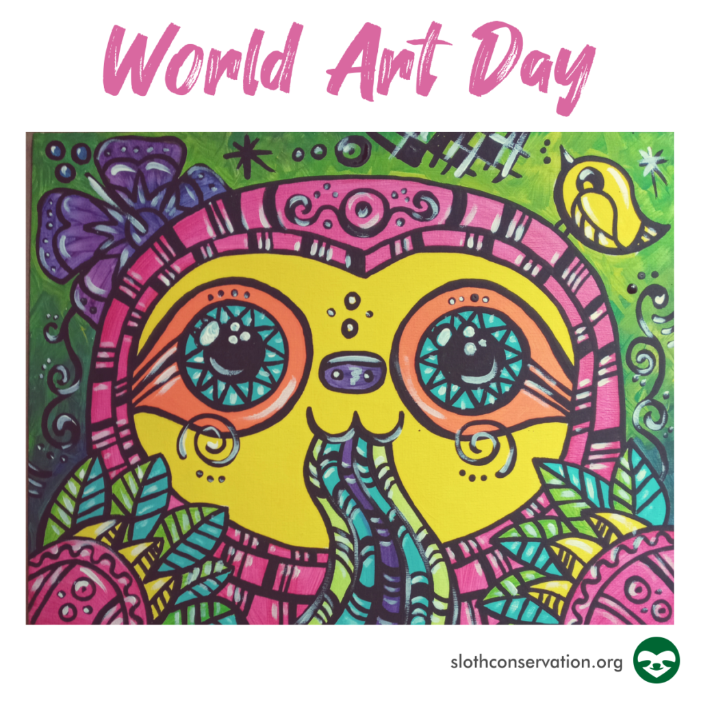 world art day sloth