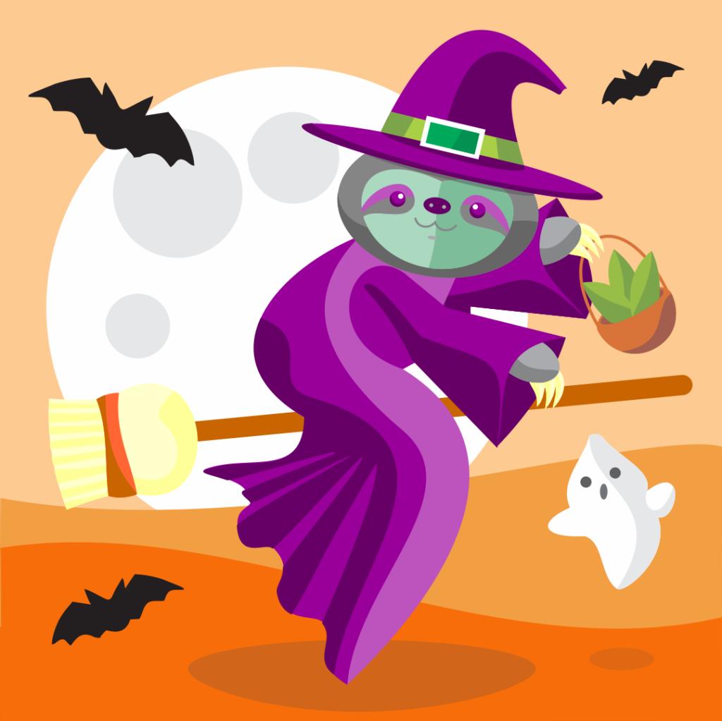 halloween spooky sloths